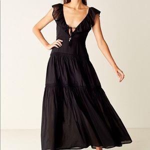 Suboo Ruffled Maxi Dress -  Black - size US 2